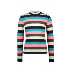 B.Nosy Shirt Big Multi Color Stripe Y008-5446