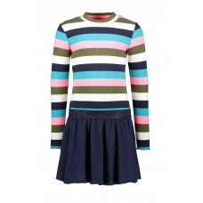 B.nosy Jurk Big Multi Color Stripe Y008-5846