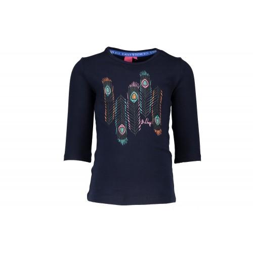 3fa3f4caa2a311 B.nosy kinderkleding shirt navy 1 2 mouwen Y612-5463 zomercollectie 2017