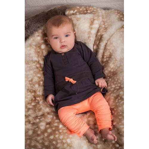 Dirkje Babykleding.Dirkje Babykleding 2 Delig Setje Antraciet Peach Wintercollectie 2016