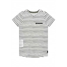 Levv Farley Shirt White Painted Stripe