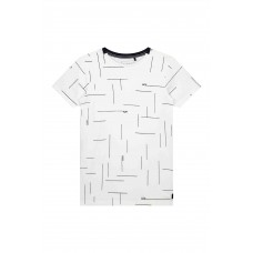 Levv Faes Shirt White Text stripe