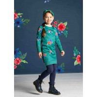 Quapi Taleen Jurk Forest Green Flower