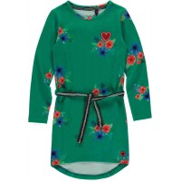 Quapi Tamia Jurk Forest Green Flower