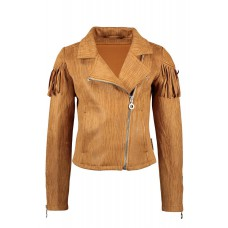 B.nosy Biker Jacket suede Pale Brown Y102-5342