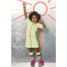 Kidz Art Jurk Neon Yellow K801-5844