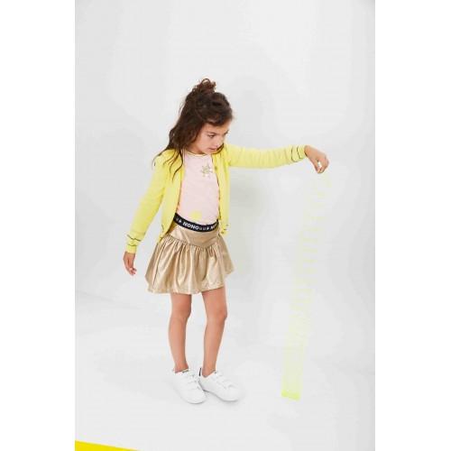 No No Kinderkleding.Nono Kinderkleding Rok Goud Zomercollectie 2019 N902 5703