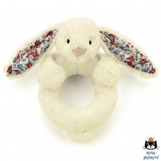 Jellycat: Blossom bashful cream bunny ring rattle