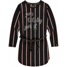 Quapi Lamira Jurk Dark Grey Stripe