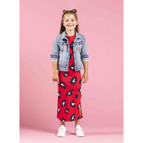 ffe1c0bca567f5 Quapi Kinderkleding Sterre maxi-jurk red leopard zomercollectie 2019